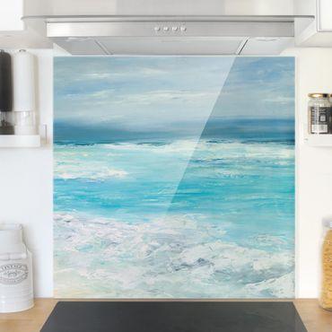 Paraschizzi in vetro - Tempesta sul mare II - Quadrato 1:1