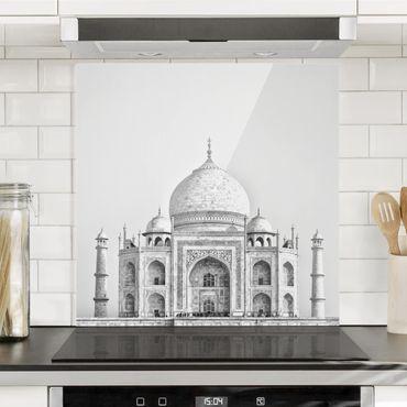 Paraschizzi in vetro - Taj Mahal in grigio - Quadrato 1:1