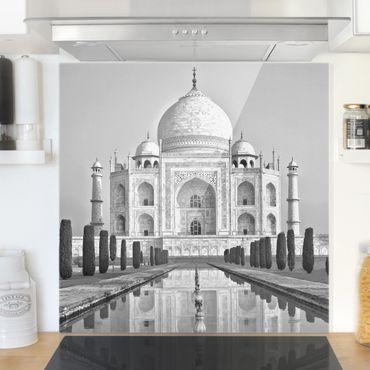 Paraschizzi in vetro - Taj Mahal giardino - Quadrato 1:1