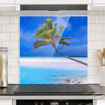 Paraschizzi in vetro - Tropical Dream - Quadrato 1:1