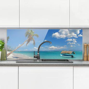 Paraschizzi in vetro - Spiaggia tropicale - Panoramico