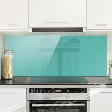 Paraschizzi in vetro - Turquoise - Panoramico