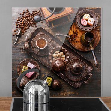 Paraschizzi in vetro - Turkish Coffee - Quadrato 1:1
