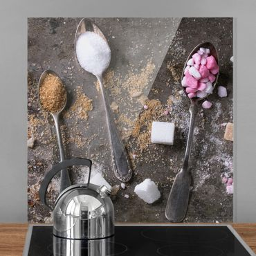 Paraschizzi in vetro - Vintage Spoon With Sugar - Quadrato 1:1