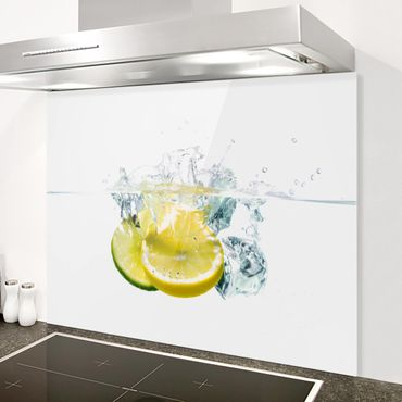 Paraschizzi in vetro - Lemon And Lime In Water - Orizzontale 1:2