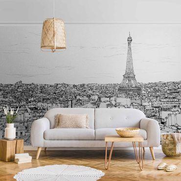 Carta da parati metallizzata - Studio della città - Parigi