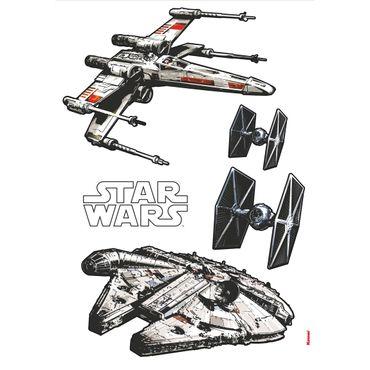 Adesivo murale per bambini - Star Wars navicelle spaziali