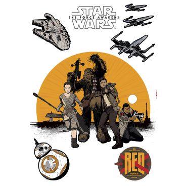 Adesivo murale per bambini - Star Wars la Resistenza
