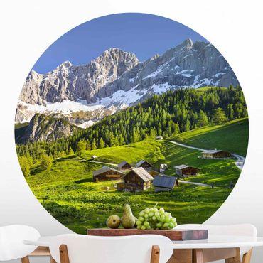 Carta da parati rotonda autoadesiva - prato alpino Stiria