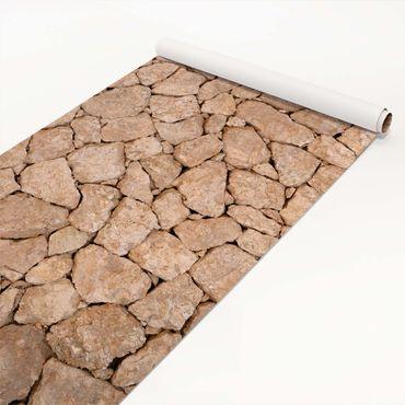 Pellicola adesiva - Apulia Stone Wall - Old stone wall of large stones