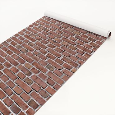 Pellicola adesiva - Brick tiles red