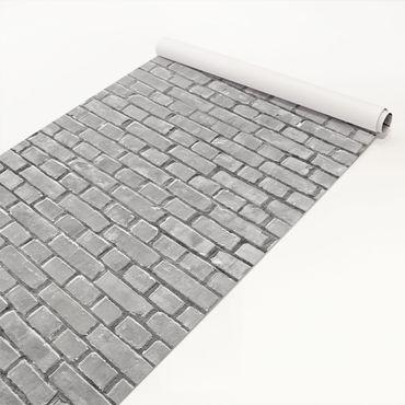 Pellicola adesiva - Brick tiles black