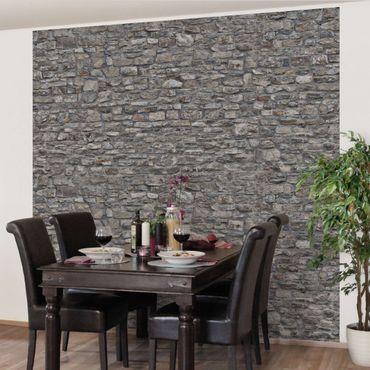 Carta da parati - Stone Wallpaper - Grey Natural Stone Wallpaper