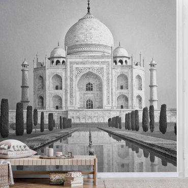 Carta da parati metallizzata - Taj Mahal con giardino