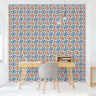 Carta da parati - Moroccan Style Mosaic Tile Wallpaper