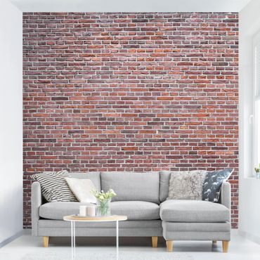 Carta da parati - Red Brick Wallpaper - Brick Wall in Amsterdam
