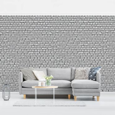 Carta da parati - Brick Wallpaper - Grey Brick Wallpaper UK