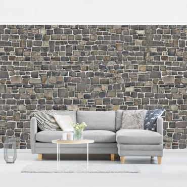 Carta da parati - Stone Wallpaper - Ashlar Masonry Wall warm