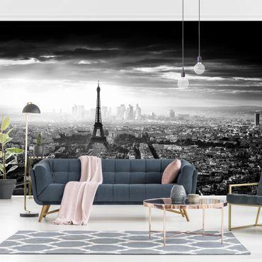 Carta da parati - La Torre Eiffel in Bianco e nero