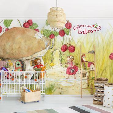 Carta da parati - The Strawberry Fairy - Under the raspberry bush