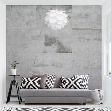 Carta da parati - Concrete Wallpaper - Large Concrete Blocks