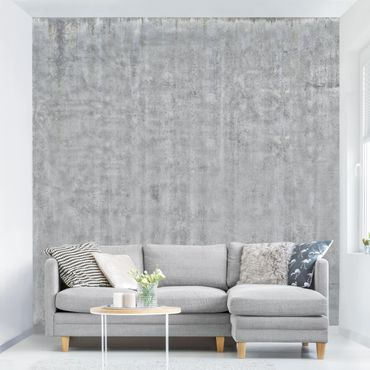 Carta da parati - Concrete Effect Wallpaper - Painted Concrete Wall eroded