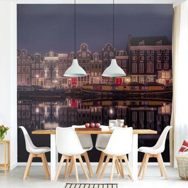 Carta da parati - Case galleggianti di Amsterdam