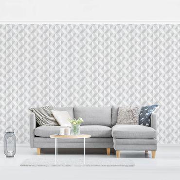 Carta da parati - Modern Geometric Wallpaper soft grey