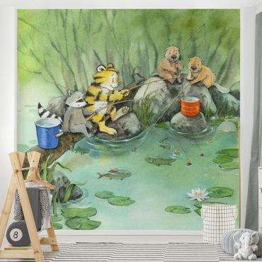 Carta da parati - Il piccolo tigrotto - When Fishing