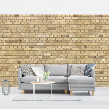 Carta da parati - Brick Effect Wallpaper - Pale Brick Wall