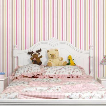 Carta da parati - no.YK48 Stripes Pink-Yellow