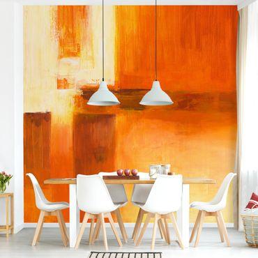 Carta da parati - Petra Schüßler - Composition In Orange And Brown 01