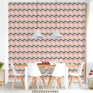 Carta da parati - Powder Chevron