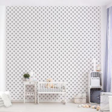 Carta da parati - Dots Grey on White