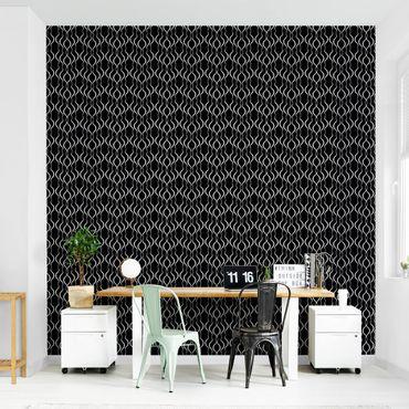 Carta da parati - Dot pattern in black