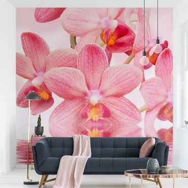 Carta da parati - Pink Orchid on water