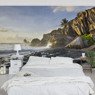 Carta da parati - Sunset on the island paradise