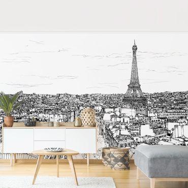Carta da parati - Studio della città di Parigi