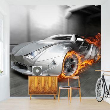 Carta da parati - Super Car In Flames