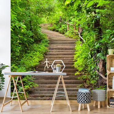 Carta da parati - Stair climb in the forest