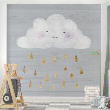 Carta da parati - Nuvola con gocce di pioggia d'oro