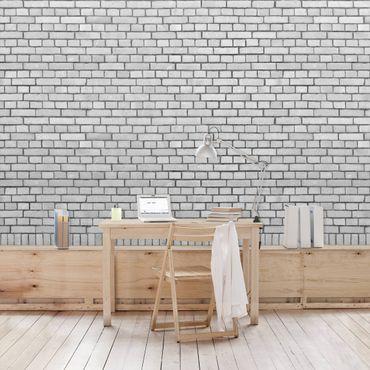 Carta da parati - Brick Effect Wallpaper - White Brick Wall in London