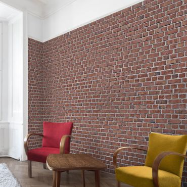 Carta da parati - Brick Effect Wallpaper - Red Brick Wallpaper UK