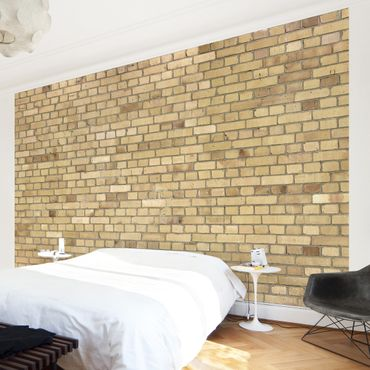 Carta da parati - Brick Effect Wallpaper - Pale Brick Wall