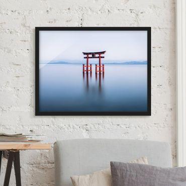 Poster con cornice - Torii in acqua