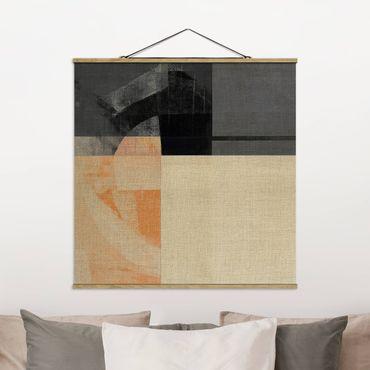 Foto su tessuto da parete con bastone - Geometria trasparente - Quadrato 1:1