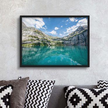 Poster con cornice - Fantastico lago di montagna