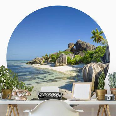 Carta da parati rotonda autoadesiva - Dream Beach Seychelles
