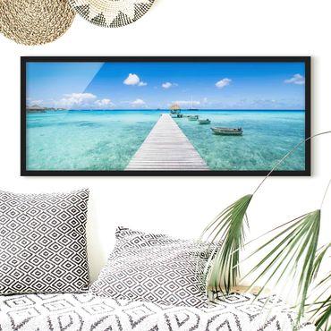 Poster con cornice - Vacanze nei tropici