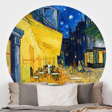 Carta da parati rotonda autoadesiva - Vincent van Gogh - Terrazza del caffe ad Arles